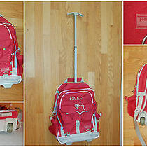 Pottery Barn Kids Gear Red Rolling Bag Backpack