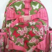 Pottery Barn Kids Mackenzie Pink and Green Butterfly Backpack (Addison) Photo