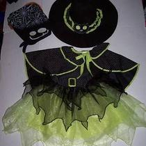 Pottery Barn Kids Pbk Witch Costume With Bag 2t 3t 2 3 Halloween Dress Up Photo