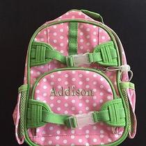 Pottery Barn Kids Pink With White Dots Green Trim With Addison Name Photo