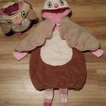 Pottery Barn Owl Costume Size 2t/3twith Treat Bag Photo