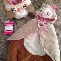 Pottery Barn Owl Costume Treat Bag Tights 2-3t Photo
