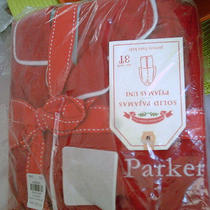 Pottery Barn Red Flannel Pajamas Sz 3t