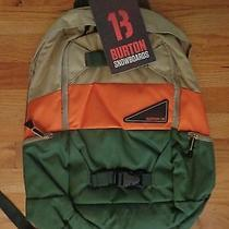 Pottery Barn Teen Burton Day Hiker Backpack-Orange/green-Nwt Photo