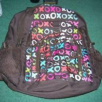 Pottery Barn Teen Gear Up Brown Xoxo Backpack Slighty Used Photo