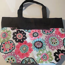 Pottery Barn Teen Jet-Set Camilla Floral Tote Bag Purse  Monoremoved  Photo