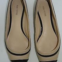 Pour La Victoire 2 Tone Nude Black Leather Flats Shoes Size Sz 6 Photo