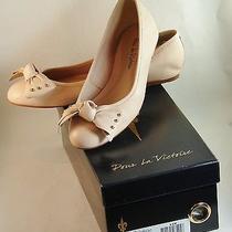 Pour La Victoire Agatha Peach Womens Designer Shoes Bow Comfort Ballet Flats 8.5 Photo