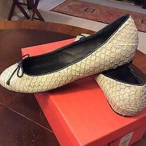 Pour La Victoire Gray Fish Skin Flats Size 10 Photo