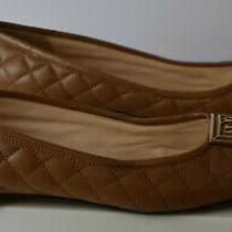 Pour La Victoire Size 9.5 Brown Soft Leather Quilted Flats Low Heel Logo Italy Photo