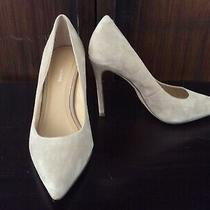 Pour La Victoire Taupe Sand Suede Leather Pumps 105mm Heel Size 6 Nwob Photo