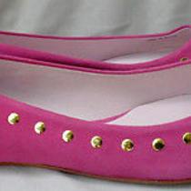Pour La Victoire Vero Cuoio Fuchsia Ballet Flats Shoes Gold Sz  9 1/2 Leather Photo