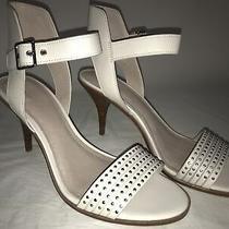 Pour La Victoire Women's Mya Studded Mid Heel Sandals Cream 9.5 b(m) Us Photo