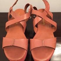 Pour La Victoire Womens Leather Platform Sandal Tan Size 8.5 Photo