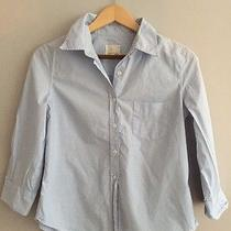 Powder Blue Boy by Band of Outsiders Button Blouse Top Down Clean Cut Preppy Photo
