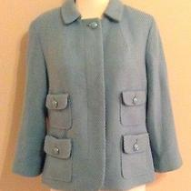 Powder-Blue Vintage Style Swing Jackettalbot'ssize 10 Hello Jackie O Photo