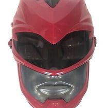 Power Rangers Red Mask Sound Effects Costume Halloween Party Photo