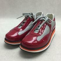 Prada  38 Red Enamel Size 38 Red Low Cut Sneaker 069 From Japan Photo