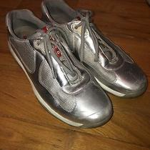 Prada Americas Cup Sneakers Mens Size 8 10 Us Silver Shoes Photo