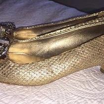 Prada Austrian Crystal Beaded - Gold Snakeskin 1.5
