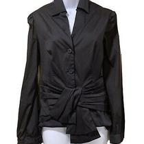 Prada Black Cotton Blend Blouse Size 40 It Photo