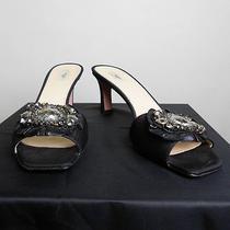 Prada Black Evening Shoe With Jewels Sz. 40 Photo