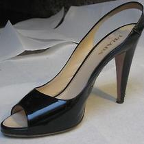 Prada Black Lacquered Leather Shoes by Donna Calzature Size 40 Photo
