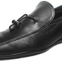 Prada Black Leather Drawstring Loafers Womens 40 Photo