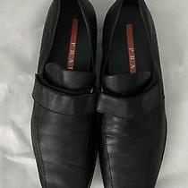 Prada Black Leather Velcro Strap Loafer/sport Sneaker/driving Shoe Sz 38 Photo