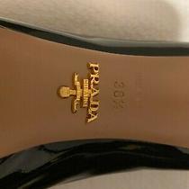 Prada Black Patent Leather Pumps Size 38.5 Photo
