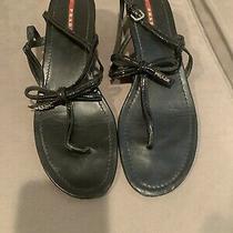Prada Black Sandals With Bows Size 41 Photo