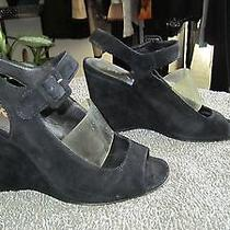 Prada Black Suede Shoes Size 37 Photo