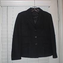 Prada Black Wool Long Sleeve Blazer Jacket Sz 38 Photo