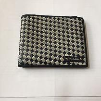 Prada Blue Bi-Fold Wallet Authentic Card Missing Photo