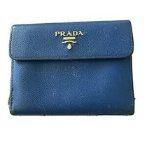 Prada Blue Leather Wallet Photo
