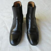 Prada Booties Ankle-Boots Black Leather Heels W/ Elastic Forever-Chic sz.36 Photo