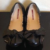 Prada Bow Ballet Flat Shoes Photo