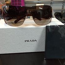 Prada Brown Amber Luxury Shield Sunglasses Gorgeous  Photo