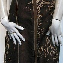 Prada Brown Printed Skirt Photo