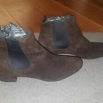 Prada Brown Suede Booties Size 40 Photo