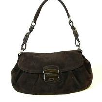 Prada Brown Suede Hobo Bag Handbag Purse Photo