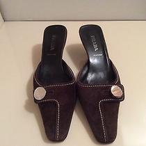 Prada Brown Suede Mules Size 38 Photo