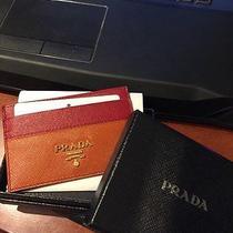 Prada Card Holder/case Multi-Color Walletluxury Gift Photo