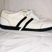 Prada Casual Shoes Sneakers Lace Up Mens White Leather Size 6.5 Photo