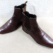 Prada Chelsea Boots in Dark Tan Glove Soft Shoes & Liners Made in Italy Uk 7.5  Photo