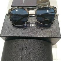 Prada Conceptual Pr 20us Gunmetal Grey Havna Blue Women's Sunglasses Hu7219 54mm Photo