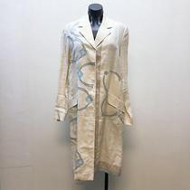 Prada Cream Linen Coat Size 44/medium  Photo