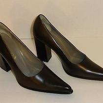 Prada Dark Brown Classic Pumps Shoes Size us6.5 / it36.5 Made in Italy Photo