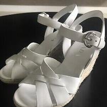 Prada Espadrille Wedge Sandal White s.6.5 Photo