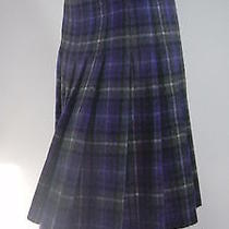 Prada Fit & Pleated Plaid Skirt Photo